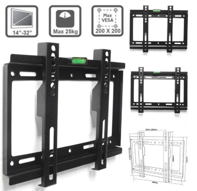 cbaf4b72fae LCD LED Plasma Flat Slim TV Wall Mount Bracket 14-32   18 20 24 30 ...