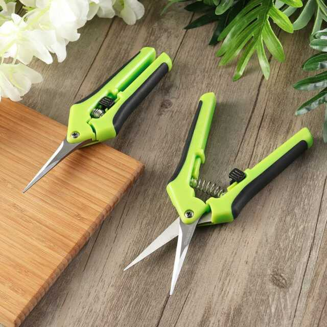 2PCS Pruning Shears Plant Scissors Trim Trees Snips Branch Garden Secateurs Tool