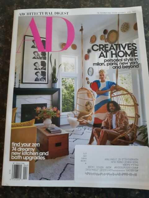 AD Architectural Digest Magazine April 2021  Ships First Class Mail!