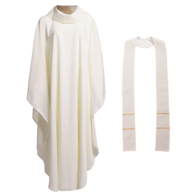 Christian Solid Pure Color Clergy Chasuble Catholic Church Priest Vestment For Sale Online Ebay