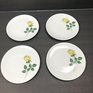 Winterling-Bavaria-Salad-Plates-Dessert-Rose-Flower-Porcelain-Print