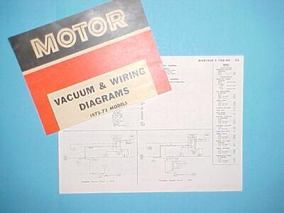 1972 1973 Ford Gran Torino Mercury Montego Mx Gt Brougham Vacuum Wiring Diagrams Ebay