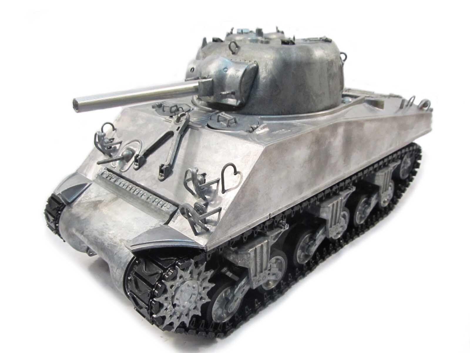 COMPLETO di metallo 1/16 Mato Sherman KIT Rinculo a infrarossi RC Carro armato in metallo colore 1230