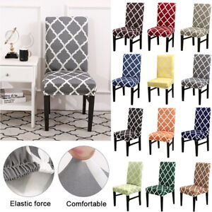Modern Geometry Printed Stretch Dining Chair Covers Seat Slipcovers Party Decor Ebay