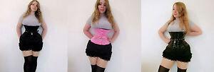 Bloqueo-De-Acero-deshuesado-corse-Underbust-rosa-negro-Sissy-Maid-Ballet-de-arranque-Reino-Unido