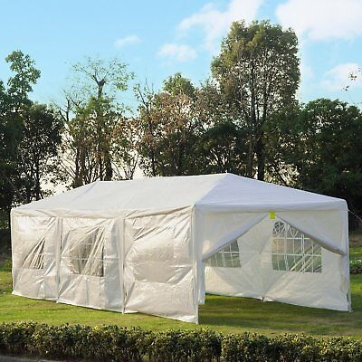 10x30ft Gazebo Canopy Wedding Party Tent Portable Patio w/ 8 Removable Walls