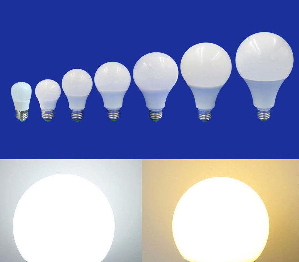 10x E27 LED Light 1W 3W 5W 7W 9W 12W 15W Globe Lamp DC12V 12-24V Camping Bulb  T