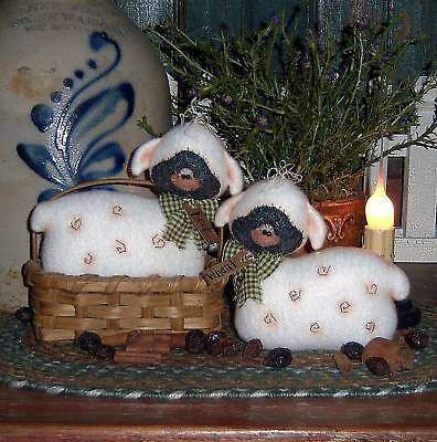 Primitive Doll Sheep Stitchery Bowl Ornie Paper Pattern #579