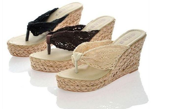 88cbf25bbf0 Elegantes sandalias zapatillas mujer disponibles 3 colores 8168 cuña talón  8 cm