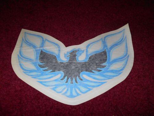 1978 PONTIAC FIREBIRD FORMULA SPOILER BIRD DECAL TRANSFER NEW BLUE 7.2 INCHES