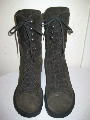 Nine West Suede Leather lace up Combat Boots Shoes