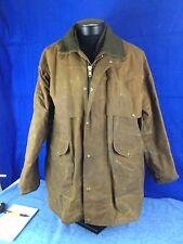C.C. Filson Style 61N Wax Cotton Oilskin Field Hunting Coat Jacket w/ Wool Liner