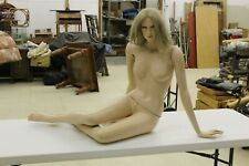 Vintage Female Mannequin Realistic Full Size Sitting