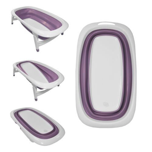 Baby Bath Time Foldable Splash /& Play Lavender Purple Transportable BathTub