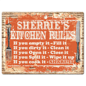 PPKR0512-SHERRIE-039-S-KITCHEN-RULES-Chic-Sign-Home-Kitchen-Decor-Gift-ideas