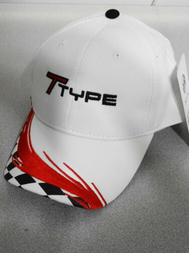 TTYPE TURBO BUICK WHITE //RED GM LICENSED EMBROIDERED CHECKERED HAT