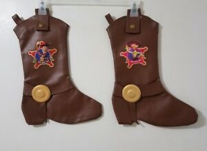 2eda7d7432e Details about Disney Pixar Toy Story WOODY JESSIE Cowboy Boot Faux Leather  Christmas Stockings