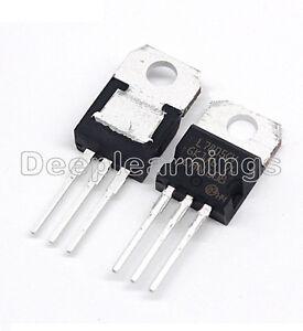 30pcs ic l7805cv l7805 7805 to 220 voltage regulator 5v st new ebay