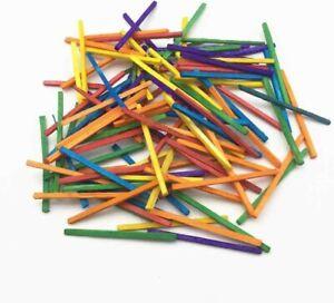 Wooden-Assorted-Coloured-Matchsticks-30g-Pack-Art-amp-Craft-Match-Sticks