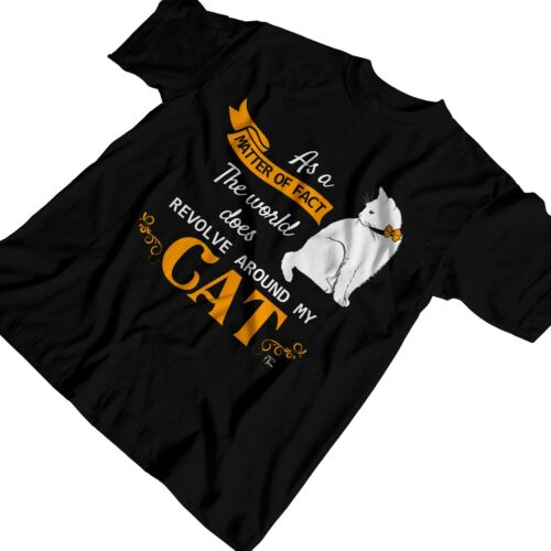 1Tee Womens As A Matter Of Fact The World Does Revolve Around My Cat T-Shirt