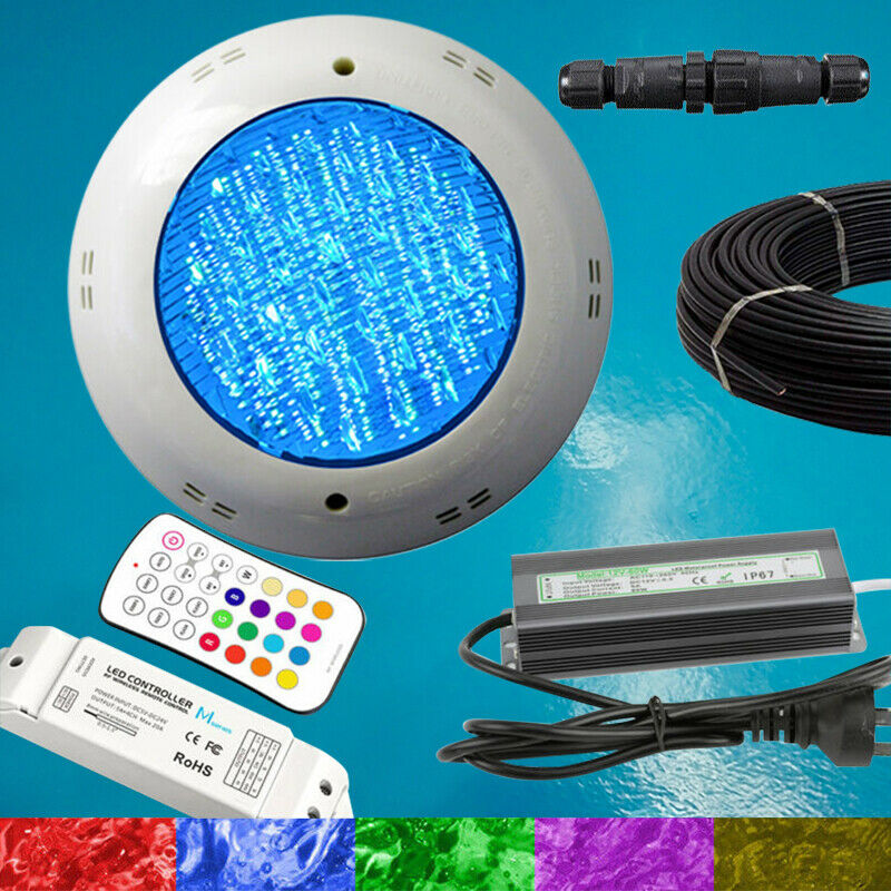 Swimming Pool Spa LED Light RGB + Controller + Power Supply + 10m Cable NEW