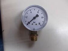 Manometer Radial, 0 - 10 bar.,