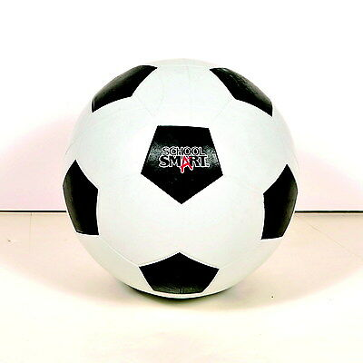 School Smart Soccer Ball, Size 3, Black/White