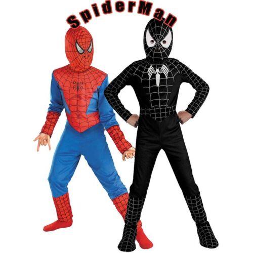 Boy SpiderMan Venom Superhero Kid Fancy Dress Costume Christmas Outfits L UK