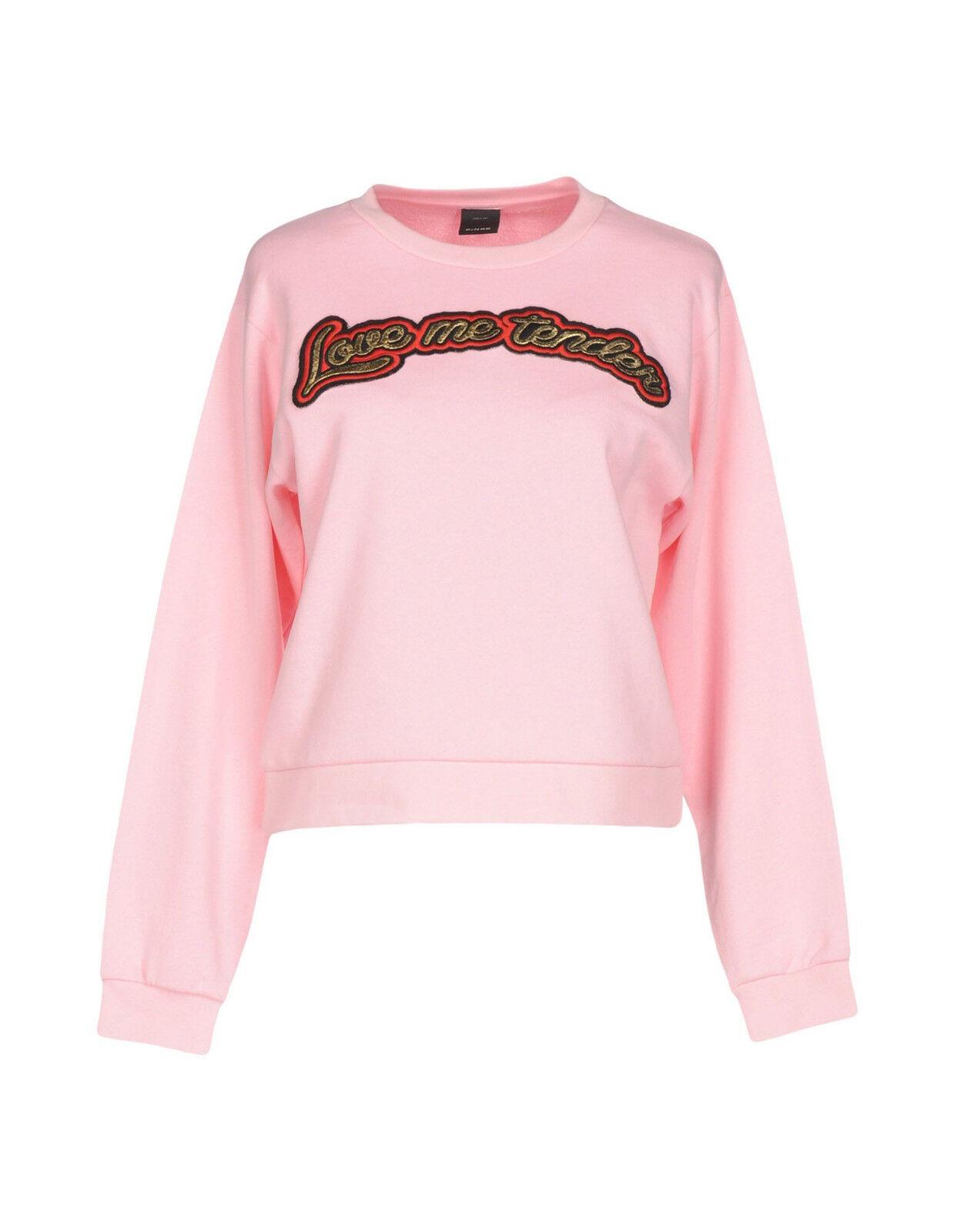Felpa Donna rosaO Sweatshirt Made in  H295 Tg M