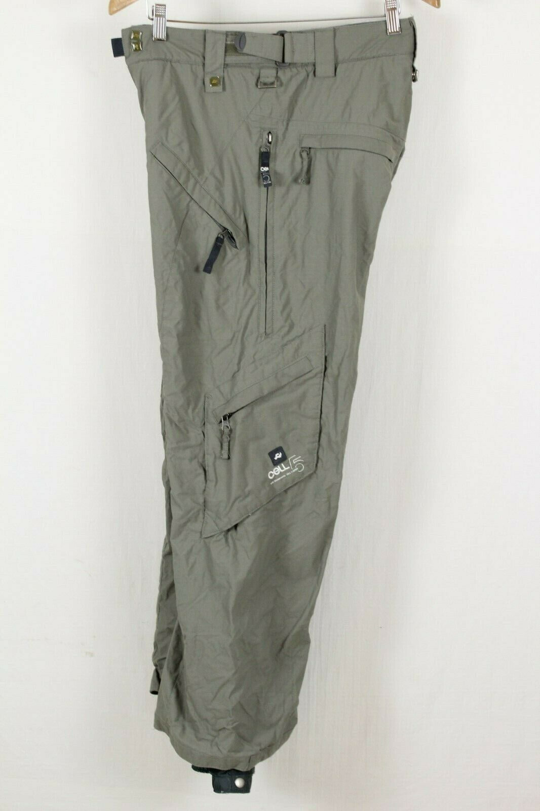 Ride Mens Grey Cell Snowboarding Pants Sz Small S