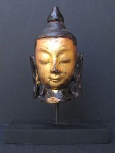 Tete-de-Bouddha-Shan-en-Marbre-de-BIRMANIE
