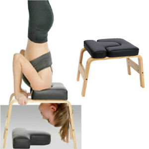 330lb yoga headstand bench inversion chair home fitness