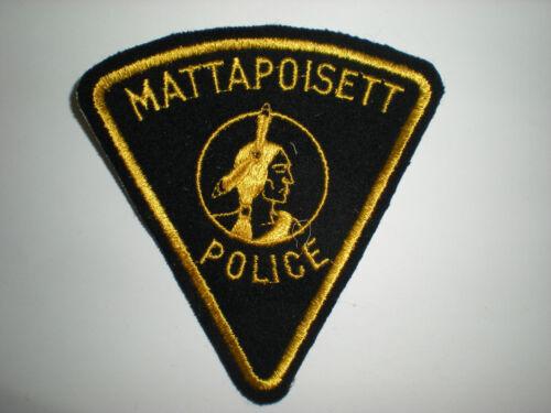 MASSACHUSETTS POLICE DEPARTMENT PATCH MATTAPOISETT