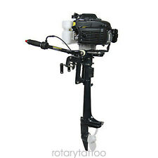 4 Stroke 4 Hp Outboard Motor Boat Engine Air Cooling Cdi System 40cm Shaft 52cc