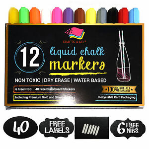 CRAFTS4ALL-Liquid-Chalk-Markers-12pk-Assorted