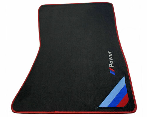 Floor Mats For BMW M6 Series F12 F13 Red Rounds With ////// Power Emblem LHD NEW