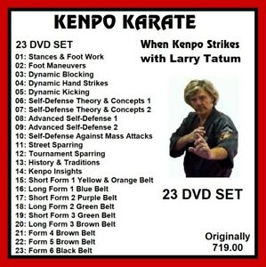 KENPO-KARATE-Training-Series-23-dvd-set-striking-kicking-mma-panther-productions