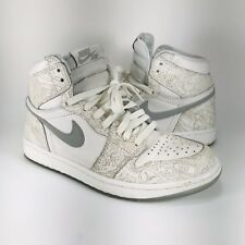 newest 87590 61ece item 2 Nike Air Jordan 1 Retro High OG Laser 705289-100 White Metallic  Silver SZ 8.5 -Nike Air Jordan 1 Retro High OG Laser 705289-100 White  Metallic Silver ...