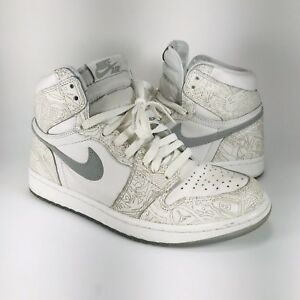 0f2afdec271 Nike Air Jordan 1 Retro High OG Laser 705289-100 White Metallic ...