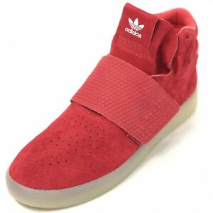 on sale 9767a c7abd Details about ADIDAS Tubular Invader Strap Men's 11 Red Sneakers Hi Top NEW