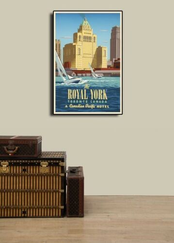 20x30 Details about  /1950s Canadian Pacific Toronto Royal York Hotel Travel Poster