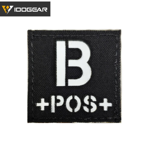 IDOGEAR Tactical Blood Type Morale Patch Badges Military Camo Airsoft Gear