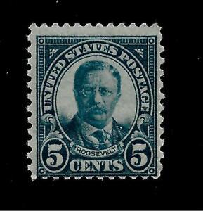 US-1927-Sc-637-5-c-Roosevelt-Mint-NH-Vivid-Color-Centered