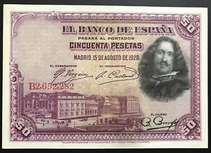 SPAIN LOT 5x 100 PTAS 1928 XF JUST ONE FOLD!