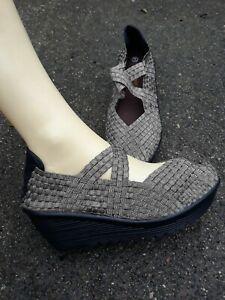 Bernie Mev Drake Wedge Shoes Womens