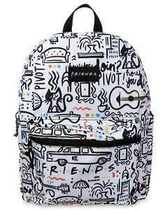 FRIENDS-Backpack-TV-Show-Sitcom-Central-Perk-School-Boys-Kids-Book-Bag-Comic-NEW