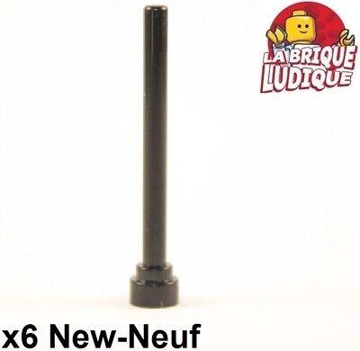 Lego 6x Antenne bout plat Antenna flat top 1x4 noir//black 3957b NEUF