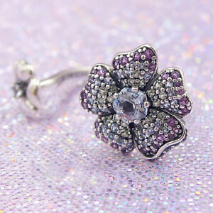 S925 Sterling Silver Glorious Blooms Ring With CZ Ring Woman Jewelry Size 50,52,54,56,58MM