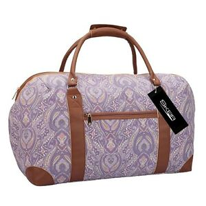 Womens Weekend Bag Ladies Canvas Overnight Holdall Hand Luggage ...
