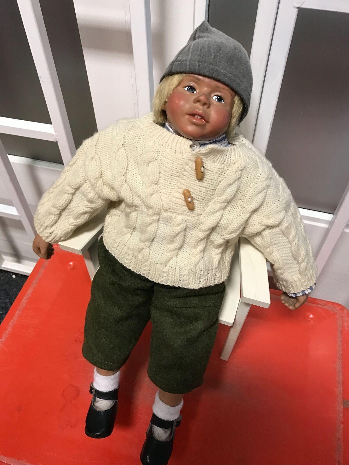 Sigikid kristin patinador muñeca 49 cm  top estado